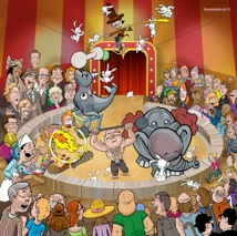 plafond poster circus