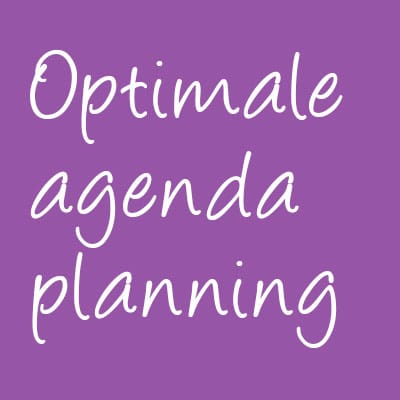 optimale agendaplanning