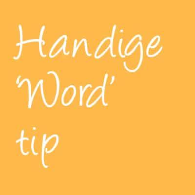 handige word tip